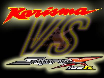 Karisma vs Supra X 125 logo