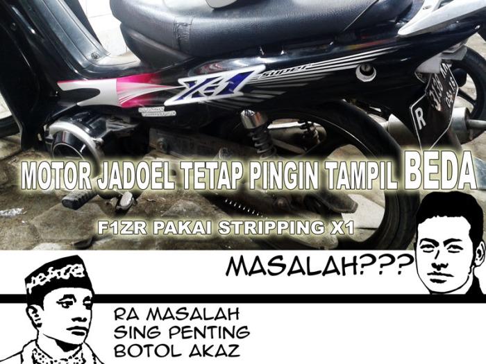 F1ZR stripping X1