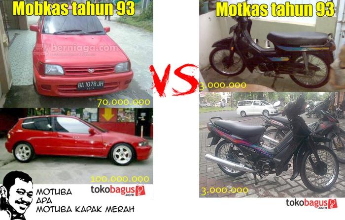 Beda Mobil Dengan Motor