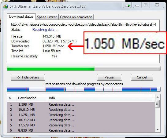 download speed three