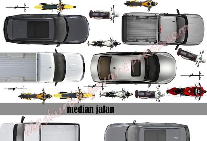 Ilustrasi Lampu merah- mobil kanan motor kiri