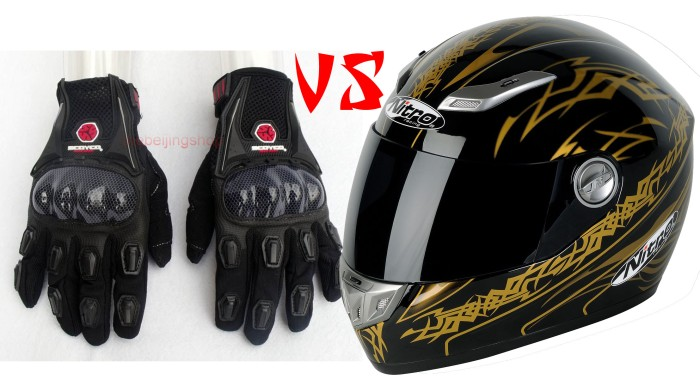 Glove full vs Helm full Face