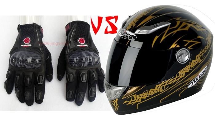 Glove full vs Helm full Face