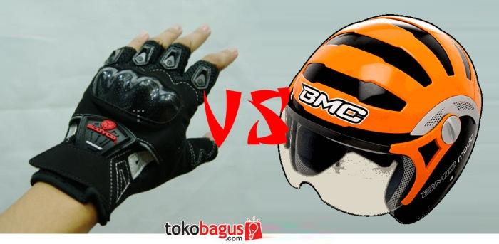 Glove Setengah vs Helm Open Face