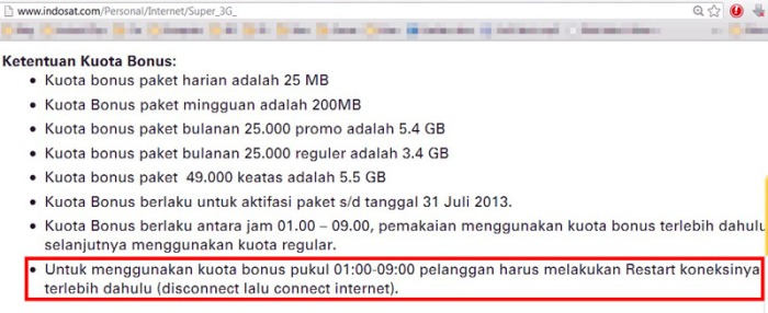 indosat super 3G term