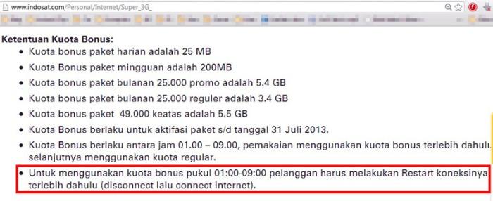 indosat super 3G term