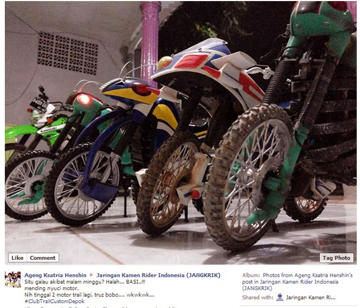 Modifikasi Motor Trail Kamen Rider Jangkrik