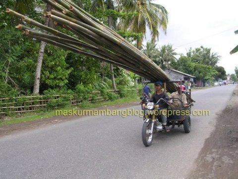 Motor Angkut Bambu