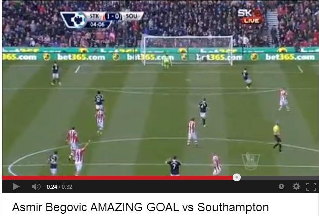 Asmir Begovic Goal