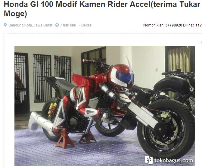 GL 100 modif kamen rider accel