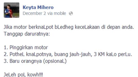 motor knalpot berisik kecelakaan