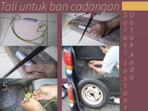 Tips Penahan Ban Serep Mobil