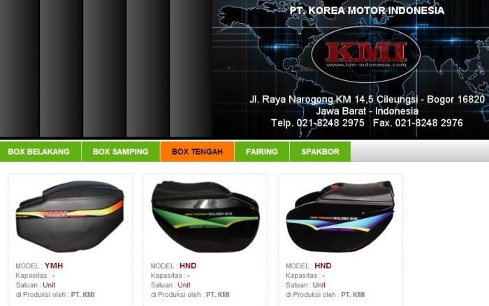 box tengah Korea Motor
