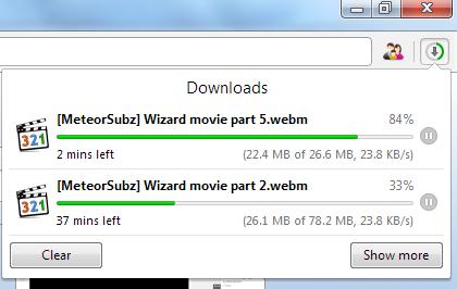 Download Menggunakan Opera