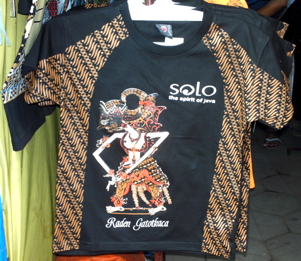 Kaos Gatotkaca batik