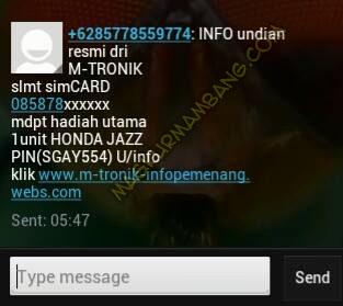 Sms Honda Jazz