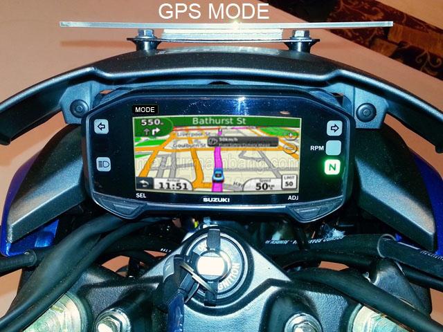 Speedo Gixxer modif GPS