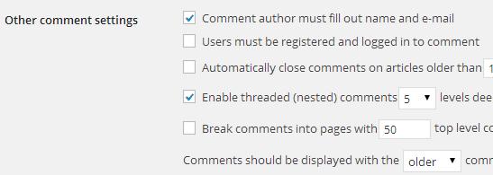 Komentar WordPress harus login setting