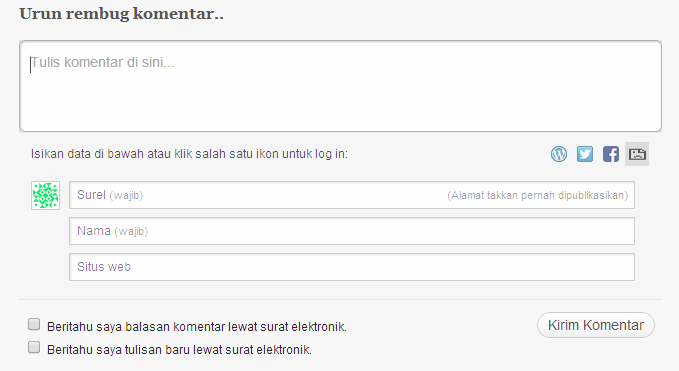 Komentar WordPress harus login