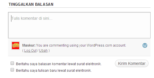 Komentar WordPress tanpa login