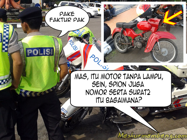 Tanya Polisi Tentang Motor Tanpa Kelengkapan