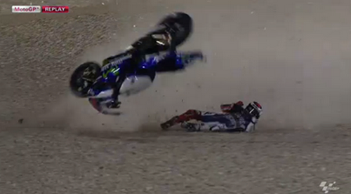 Lorenzo Crash in Motogp Losail 2014