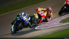 Rossi overtakes Marquez on MotoGP Losail 2014