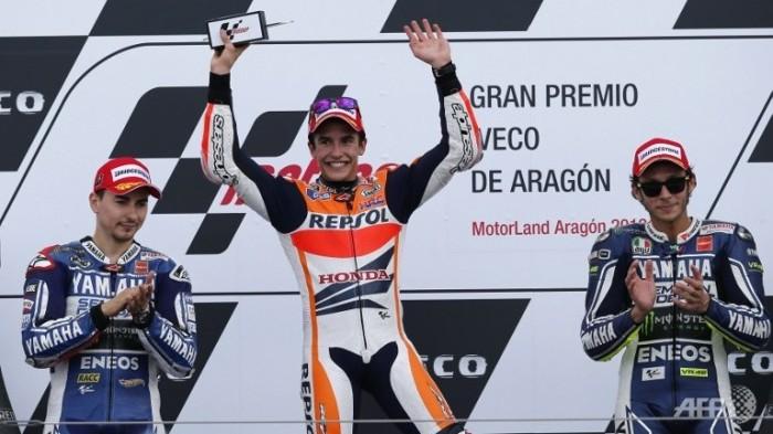 Marquez Motogp Podium Aragon 2013