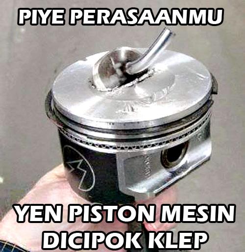Piston dItabrak Klep