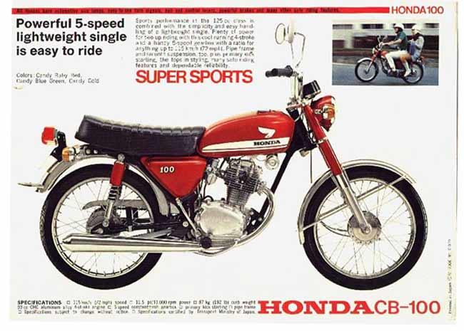 Honda CB 100 Iklan