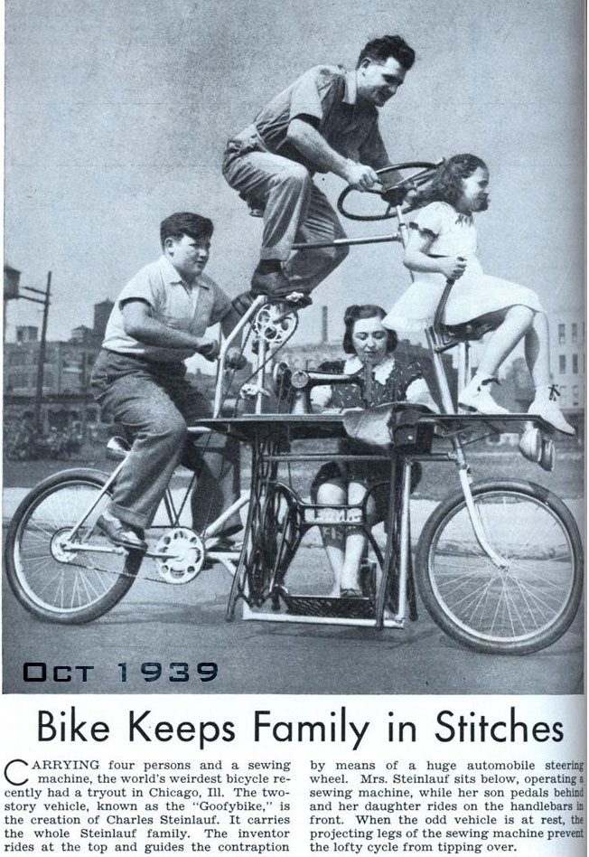 Naik Sepeda Sambil Menjahit