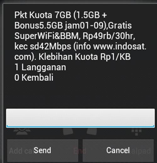 Indosat paket 7 GB