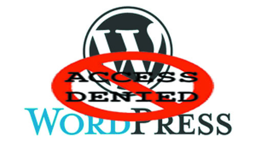 wordpress di blocked