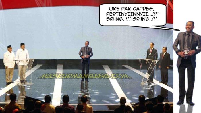 debat capress moderator tukul