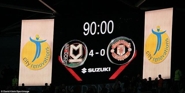 MK Dons vs MU score