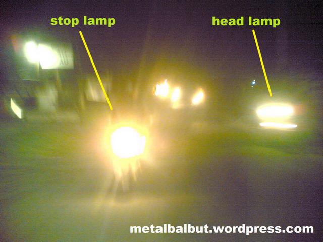 Lampu rem dan lampu utama sama terangnya