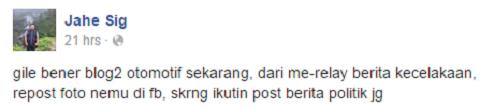 Blogger Otomotif Politik