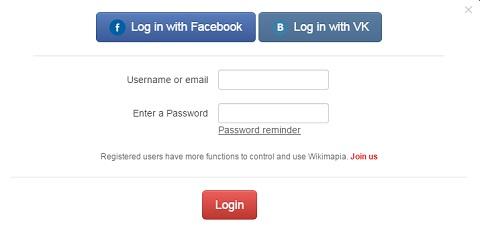 wikimapia login
