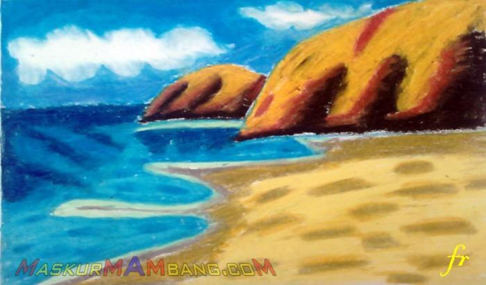 Menggambar Pantai (2)