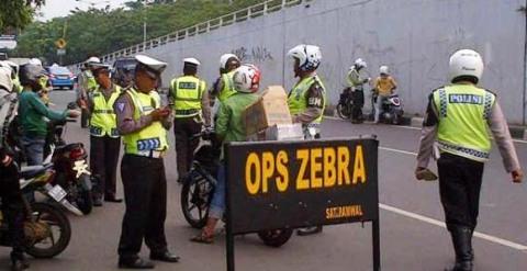 razia tilang Operasi Zebra