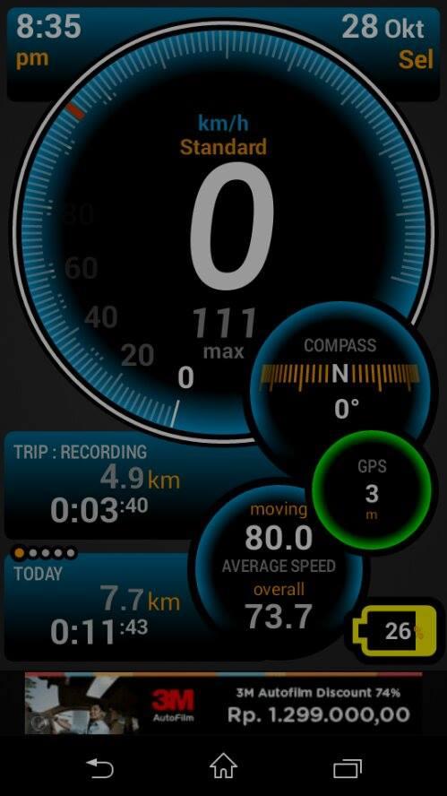 TVS Tormax Palembang Ulysse Speedometer