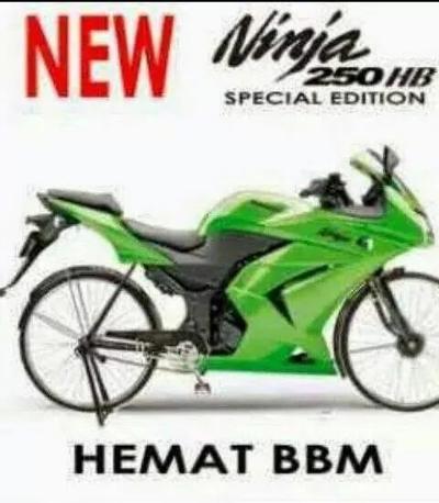 Gambar Lucu Naik Motor Ninja Gambar Viral Hd