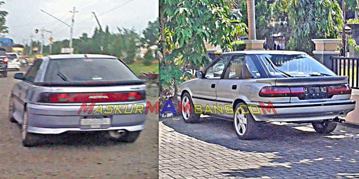 Mazda Astina vs Corolla Liftback