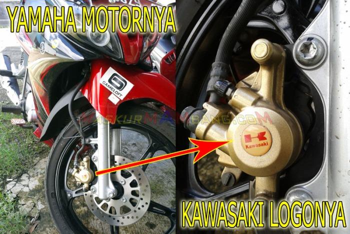 Yamaha Motornya Kawasaki Logonya