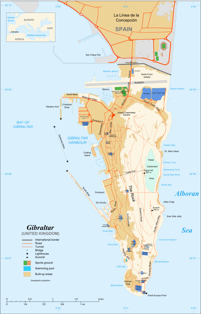 Gibraltar airport map