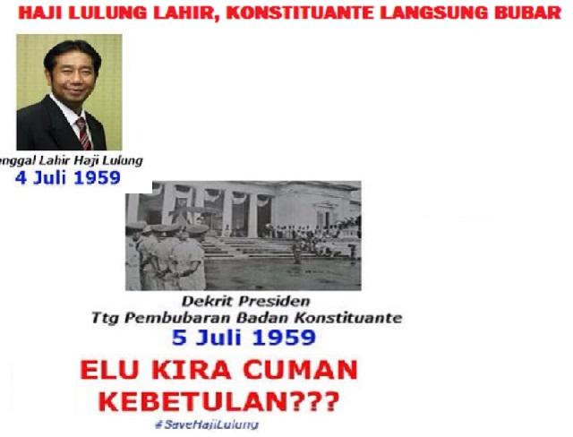 haji lulung lahir konstituante bubar