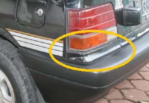 Suzuki Forsa hitam list lampu