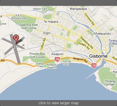 peta gisborne airport