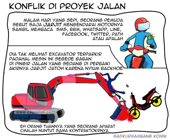Komik konflik di jalan