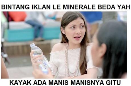 BINTANG iklan le minerale MANIS